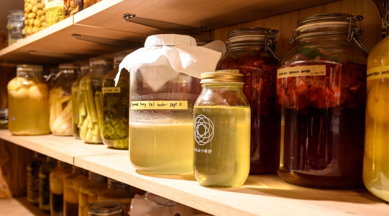 店の2階にセラーがある。18℃帯の安定した環境は食料品貯蔵にも発酵にも適している